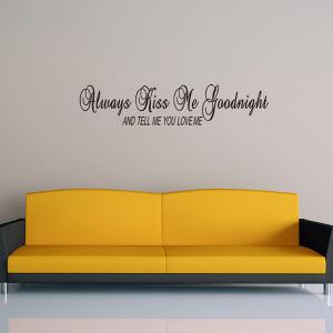 Creative Letters Font Home Decoration Removable Wall Art Sticker - BLACK