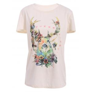Deer Print Cute T-Shirt