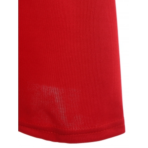 Christmas Scoop Neck Sleeveless Solid Color A-Line Dress For Women -