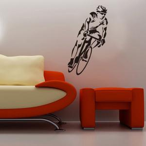 Bicycle Sportsman Sports Wall Decals For Bedrooms - BLACK
