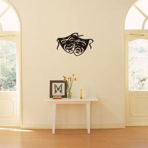 Home Decoration Crying and Smiling Facial Makeup Vinyl Wall Art Sticker -