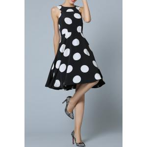 Polka Dot Fit and Flare Dress -