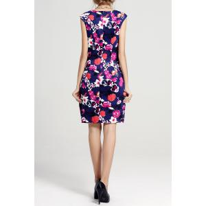 Floral Print Mini Sheath Dress -