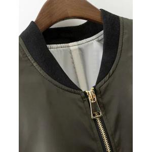 Fashion Stand Neck Long Sleeve Zipper Up Jacket For Women -