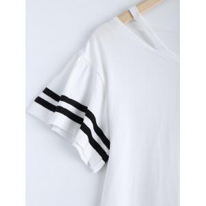 Casual Stripe V-Neck Cut Out Dress For Women -