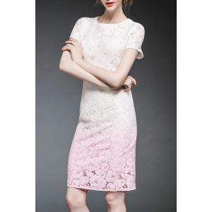 Ombre Lace Fitted Dress -