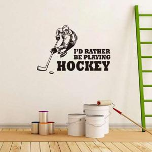 Creative Hockey Competition Sportsman Sports Wall Decals For Bedrooms -