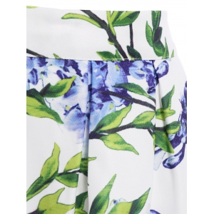 Ladylike High-Waisted Printed A-Line Women's Midi Skirt -