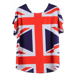 Union Jack Flag Printed T Shirt -