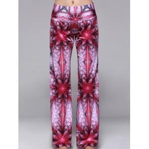 Elastic Waist Printed Wide Leg Yoga Pants