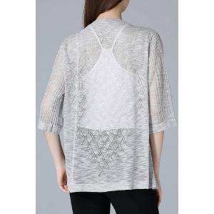 Collarless See Thru Cardigan -