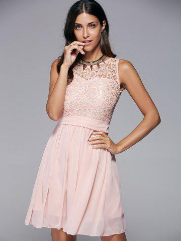 Latest Round Collar Sleeveless Homecoming Dress
