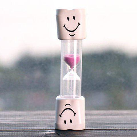 Creative Smiling Face 5 Minute Brossage Minuteur Hourglass For Kids ROSE PÂLE