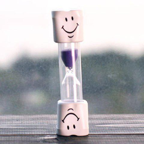 Creative Smiling Face 5 Minute Brossage Minuteur Hourglass For Kids Pourpre