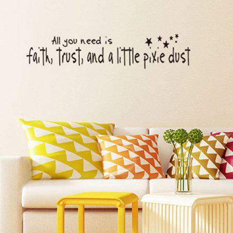 Fancy DIY Proverbs Stars Quote Wall Stickers For Bedrooms - BLACK  Mobile