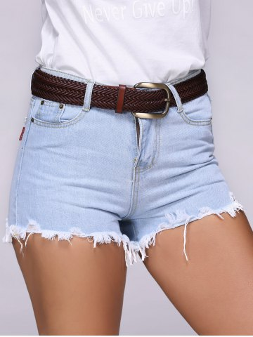 Trendy Chic Ripped Destroyed Skinny Women's Denim Shorts