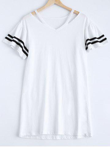 Outfit Casual Stripe V-Neck Cut Out Dress For Women