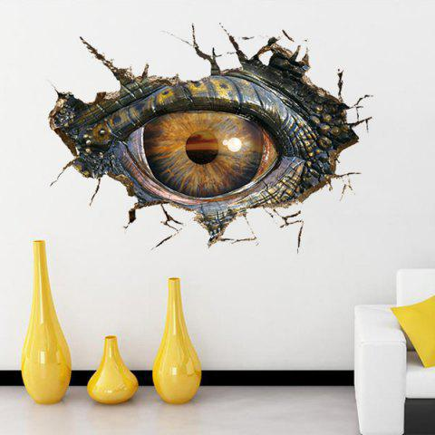 Hot Creative Home Decoration 3D Lifelike Dinosaur Eyes Wall Art Sticker BLACK GREY