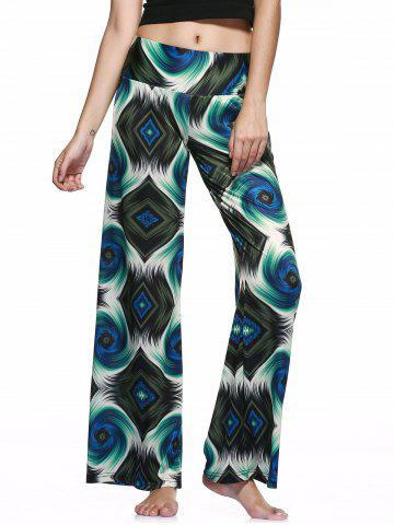 Sale Casual Style Elastic Waist Printed Loose-Fitting Pants For Women
