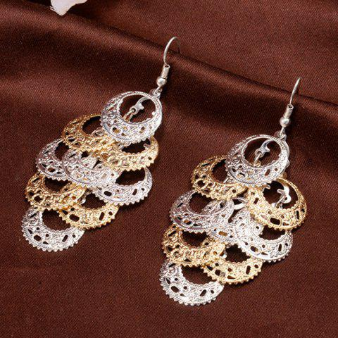 Shop Pair of Stylish Layered Circle Earrings For Women