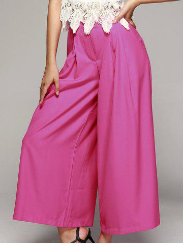 Trendy High-Waisted Wide Leg Palazzo Chiffon Pants