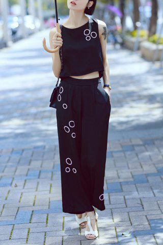 Latest Sequin Tank Top and Wide Leg Pants Suits