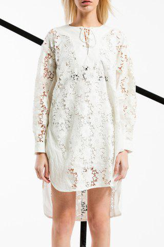 Trendy Lace-Up Hollow Out Dress
