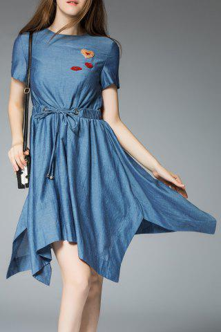 Hot Denim Handkerchief Dress