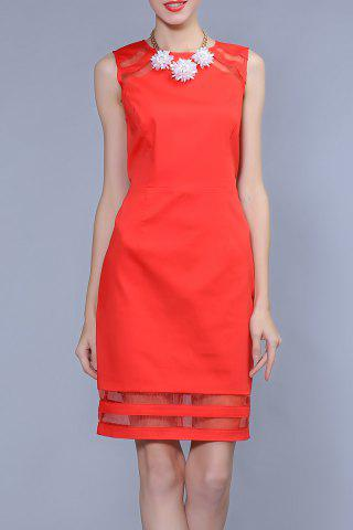 Buy Sleeveless Back Hollow Out Dress