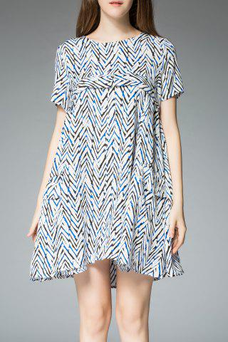 Outfits Zigzag Print Tee Dress