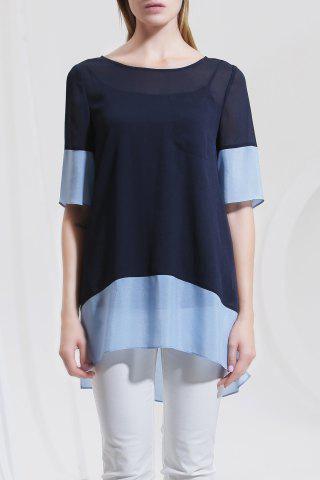 Best Asymmetric Color Block Blouse