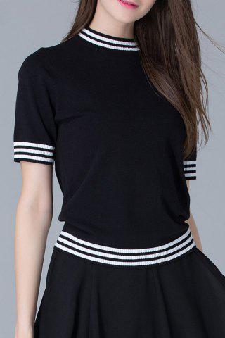 Fashion Striped Knit Tee