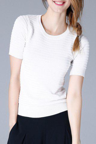 Store Round Neck Slim Knit Tee