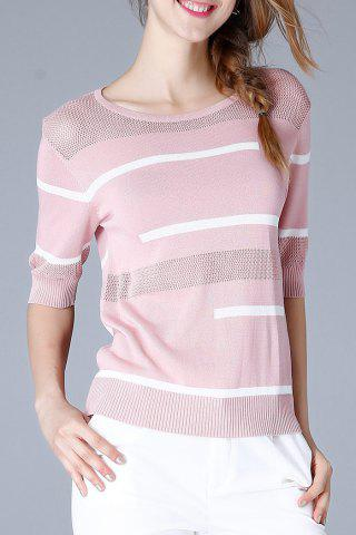 Outfits Ribbed Trim Knit Tee