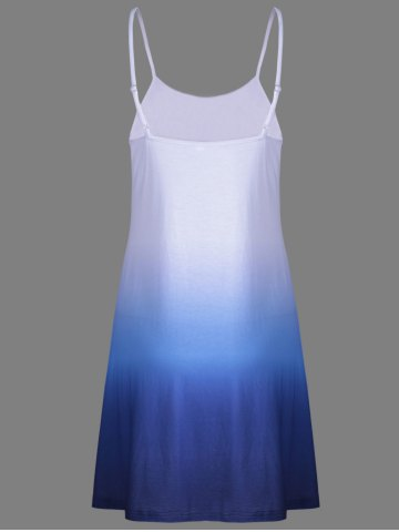 Best Fashion Ombre Cami Dress For Women - BLUE XL Mobile