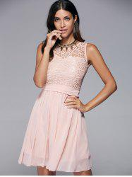 Round Collar Sleeveless Club Dress