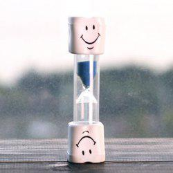 Creative Smiling Face 5 Minute Brossage Minuteur Hourglass For Kids - Rouge
