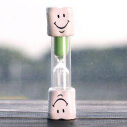 Creative Smiling Face 5 Minute Brossage Minuteur Hourglass For Kids - Vert