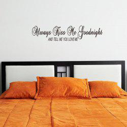 Creative Letters Font Home Decoration Removable Wall Art Sticker