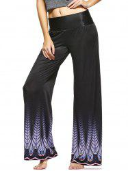 High Waist Printed Wide Leg Palazzo Pants -