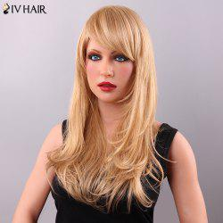 Vogue Women's Long Layered Adduction Side Bang Siv Human Hair Wig - BLONDE