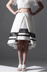 Color Block High-Low Skirt -