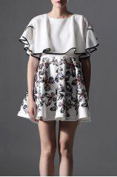 Butterfly Sleeve Printed Puffball Dress -
