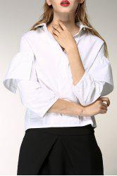 Flounced Hem High Low Shirt -