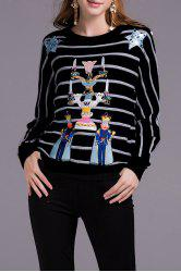 Beaded Striped Sweater -