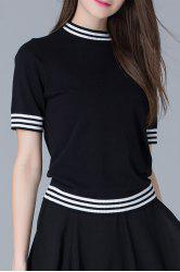 Striped Knit Tee -