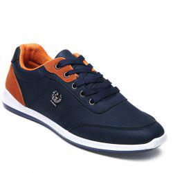 Trendy Colour Splicing and Metal Design Casual Shoes For Men