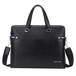 Concise Dark Color and PU Leather Design Briefcase For Men -