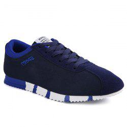 Casual Letter and Lace-Up Design Athletic Shoes For Men -