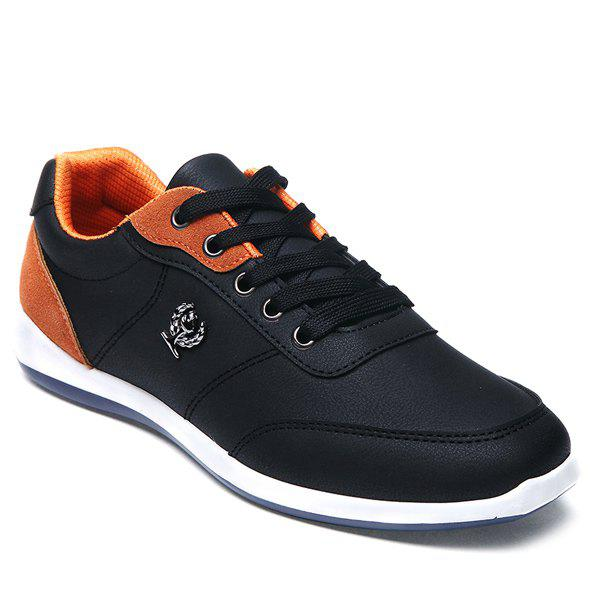 Chic Trendy Colour Splicing and Metal Design Casual Shoes For Men